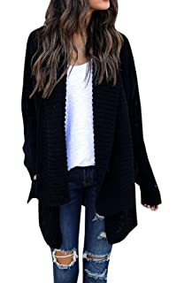 FISACE Women s Loose Fit Long Sleeve Knitted Cardigan Sweaters Outerwear 3b19a921a