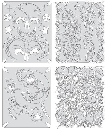 Artool Freehand Airbrush Templates, Return Of Skullmaster Mini