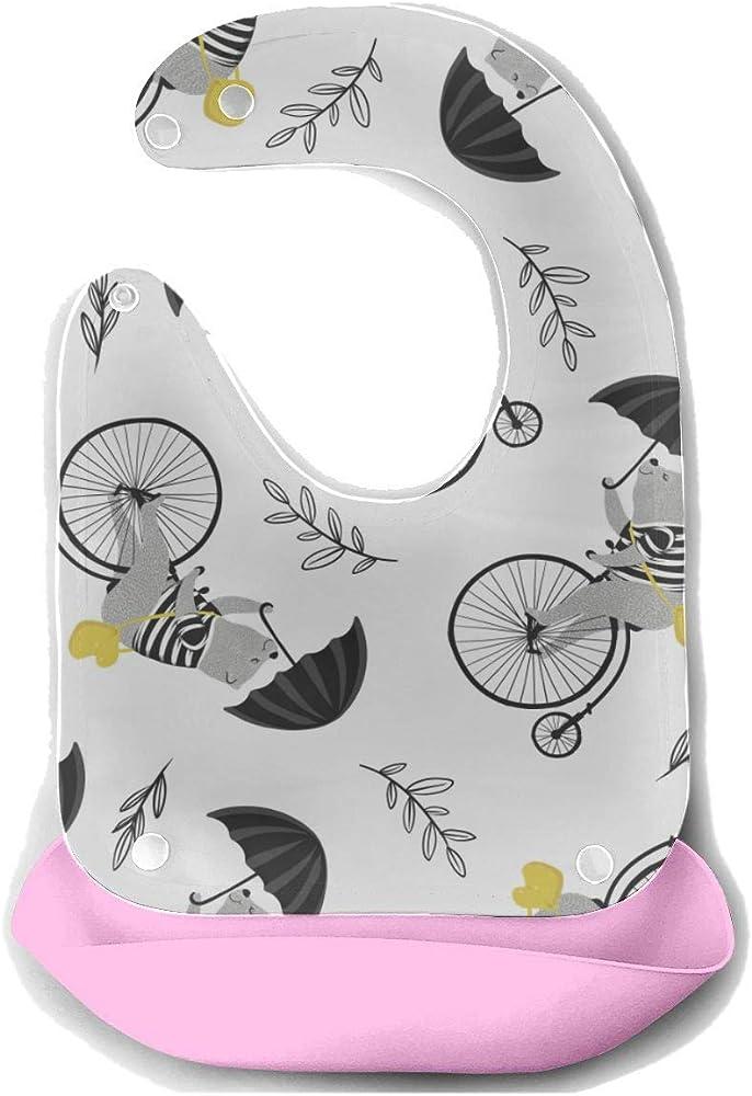 Alimento para bebé Babero Rueda de bicicleta Juego de ciclismo ...