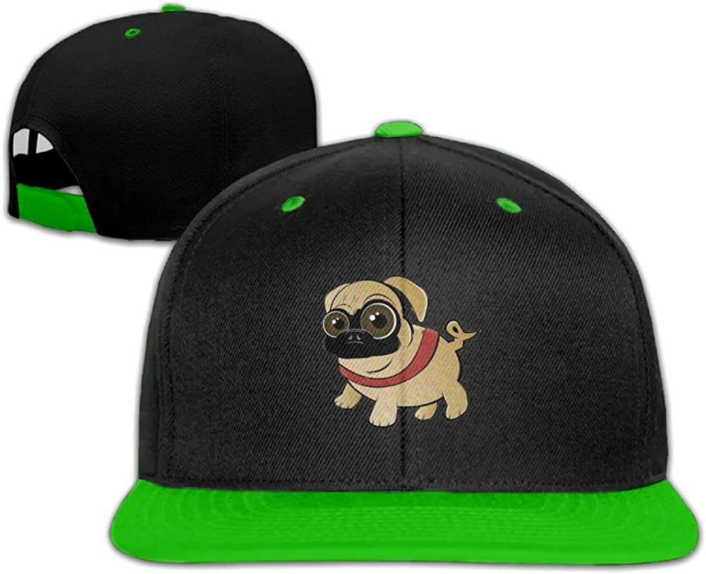 Humaoe Funny Cartoon Pug Fashion Peaked Baseball Caps//Hats Hip Hop Cap Hat Adjustable Snapback Hats Caps For Unisex