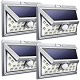 Litom 24 LED Solar Light, Super Bright Motion Sensor Outdoor Lights Wide Angle with 6 LEDs Wireless Waterproof Security Lights for Front Door, Patio, Deck, Yard, Garden-4 Pack