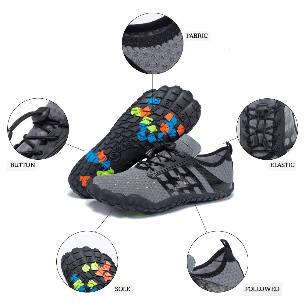 LianJian Mens Womens Breathable Water Shoes Barefoot Quick-Dry Aqua Socks for Swim Diving Surf Aqua Sports Pool Beach Yoga