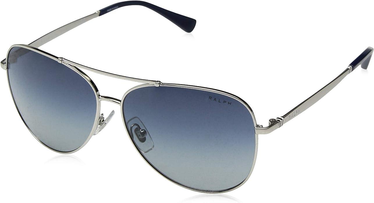 60777e76dfc1 Amazon.com: Ralph by Ralph Lauren Women's 0ra4125 Aviator Sunglasses ...