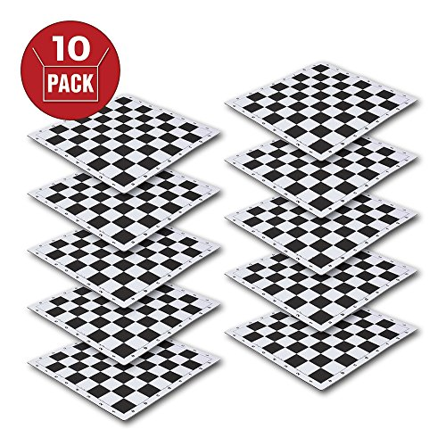 US Chess Federation's 2.25'' - Black Mousepad Chessboard (10 Pack) by US Chess Federation by The House of Staunton