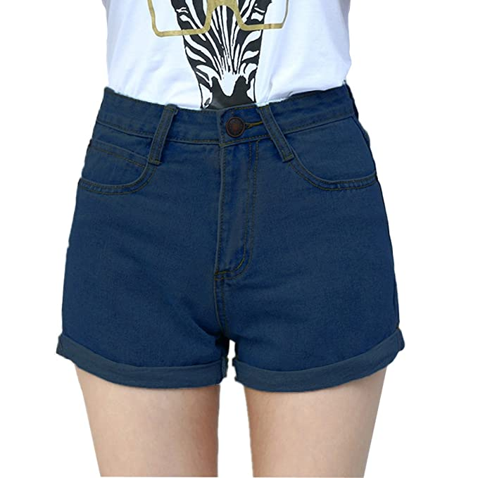 blue shorts womens