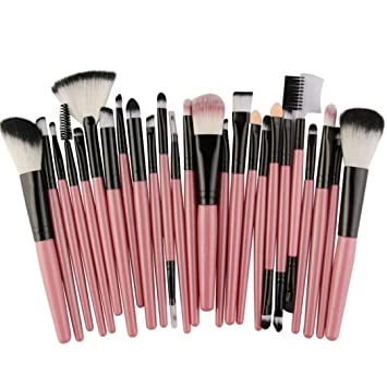 Amazon.com: 22/25Pcs Cosmetic Makeup Brush Blusher Eye ...