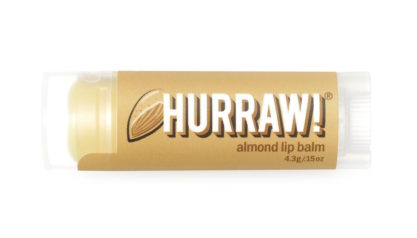 Almond Hurraw! Lip Balm: Organic, Certified Vegan, Certified Cruelty Free, GMO Free, Gluten Free, All Natural – Luxury Lip Balm Made in the USA – ALMOND