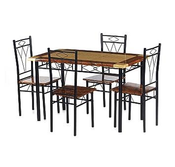 Nilkamal Stratus Four Seater Dining Table Set Glossy Finish