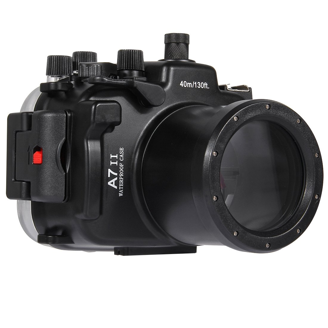 水中深度ダイビングケース PULUZ 40mソニーA7 II / A7R II / A7S II用防水カメラハウジング(FE 28-70mm f / 3.5-5.6 OSS)   B07RD5VCPN