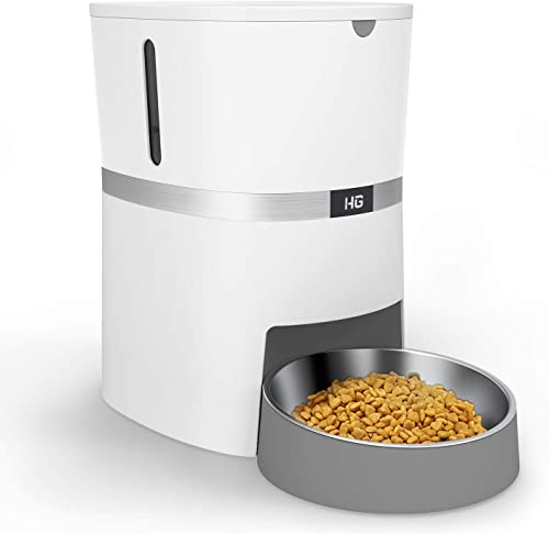 HoneyGuaridan-A36-Automatic-Cat-Feeder,-Pet-Automatic-Food-Dispenser-with-Stainless-Steel-Food-Bowl