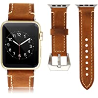 Mkeke Genuine Leather 42mm Apple Watch Band