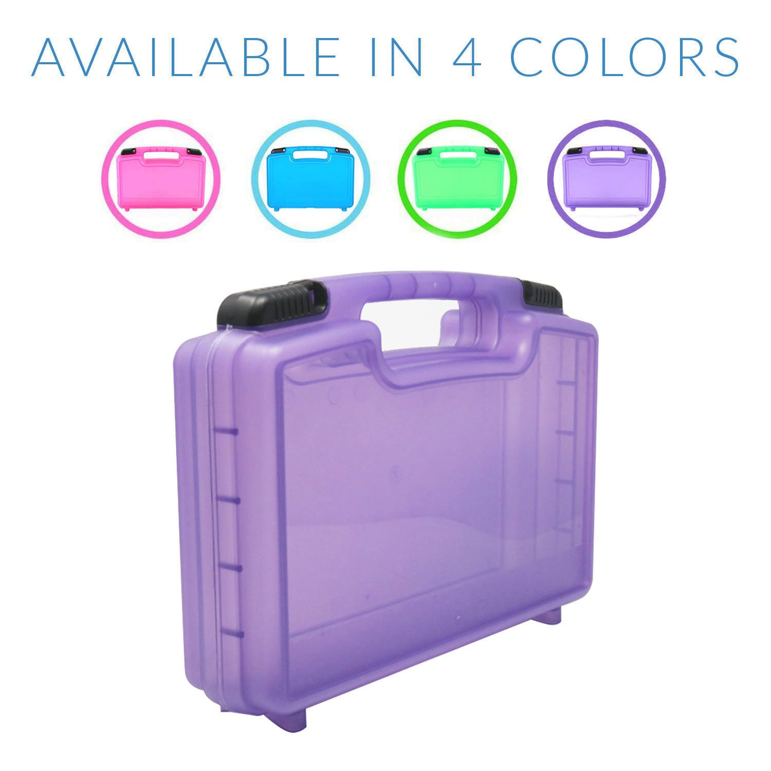 Life Made Better Little People Toy Storage Carrying Box Mini Figure Organizer Stores Figurines and Accessories Purple lmb