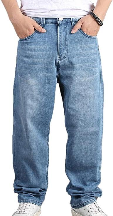 Hombres Hip Hop Baggy Jeans Denim Street Dance Skate Pants Amazon Es Ropa Y Accesorios