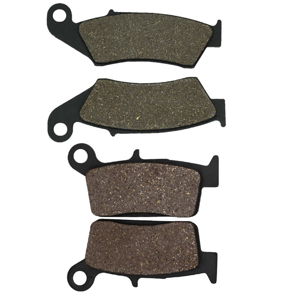 Cyleto Front and Rear Brake Pads for Kawasaki KX250 KX 250 1995 1996 1997 1998 1999 2000 2001 2002 2003 2004 2005 2006 2007 2008