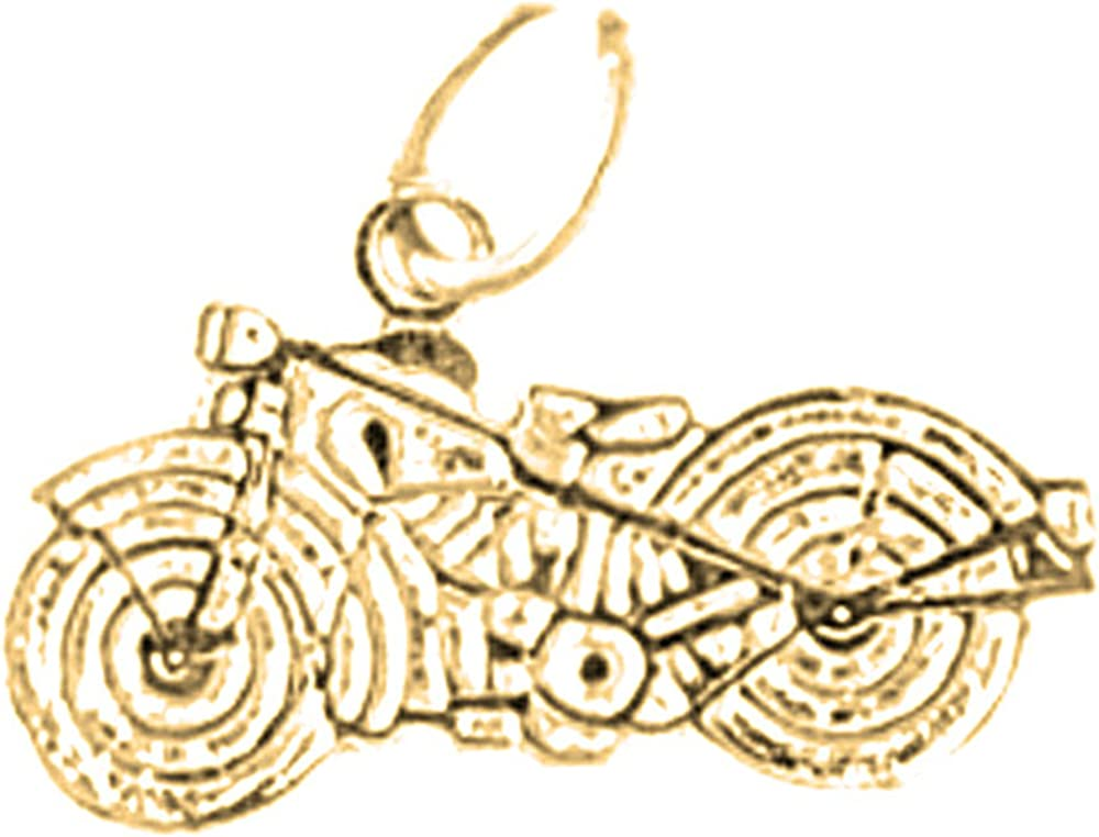 Rhodium-plated 925 Silver Motorcycle Pendant with 18 Necklace Jewels Obsession Motorcycle Necklace