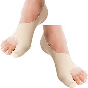 Corrector de juanetes ultrafino. Alivia juanetes leves o moderados (hallux valgus). Coloca suavemente el dedo gordo del pie. Es ultrafino y se llevar cómodo. 1 Set (derecho e izquierdo) tamaño XS