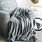 Luxury Collection Ultra Soft Plush Fleece Lightweight All-Season Throw/Bed Blanket, Twin, Azure Gray
