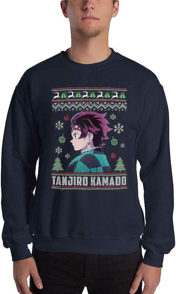 Tanjiro Kamado Demon Slayer Kimetsu no Yaiba Anime Ugly Cool Christmas Sweater Men//Women Unisex Sweatshirt