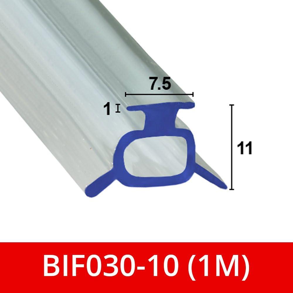 Suave sello de goma flexible para mampara de ducha, para puertas plegables, se adapta a un canal de 7 o 8 mm BIF030: Amazon.es: Bricolaje y herramientas
