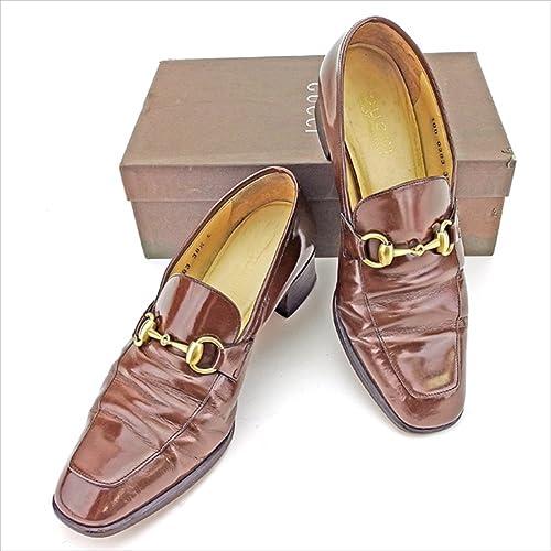 (グッチ)Gucci ローファー 38 12 靴 シューズ レディース ホースビット 中古 A1606