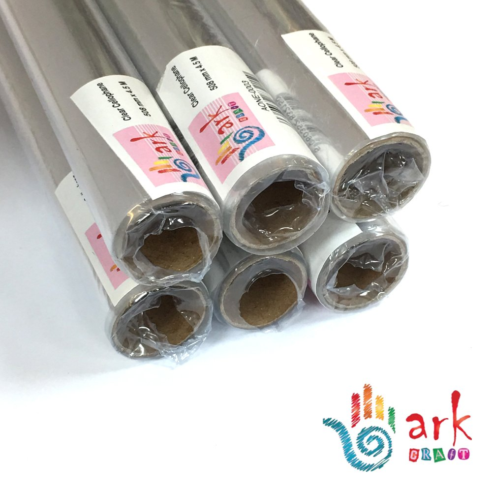 Pack de 6 transparente ArkCRAFT/® 833898 508 mm x 4,5 m rollo de papel de celof/án