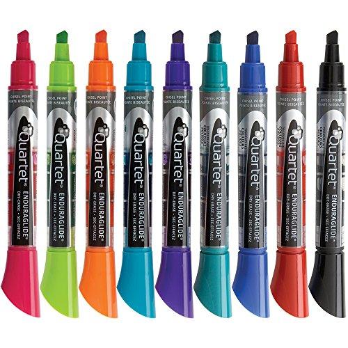Quartet Dry Erase Markers, EnduraGlide, Chisel Tip, 12 Pack - Marker Whiteboard Bold