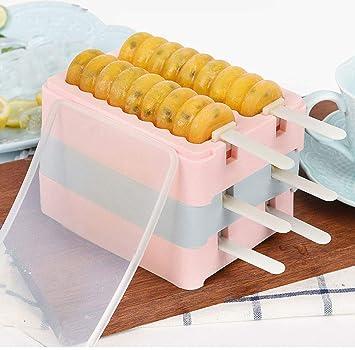 Moldes de silicona antiadherente para hacer paletas de hielo para niños, aptos para alimentos y sin ...