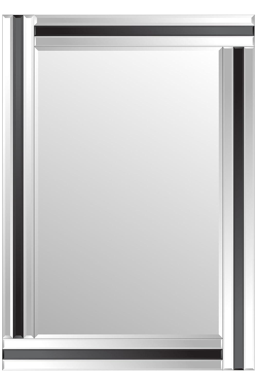 MirrorOutlet Moderno nero e argento Triple FT3FT3smussato a parete 3x 2(70CMX100CM)