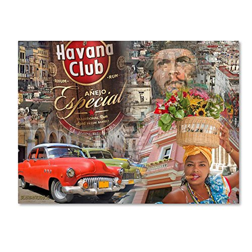 Havana Rum Club (Havana Club I by Alberto Lopez, 24x32-Inch Canvas Wall Art)