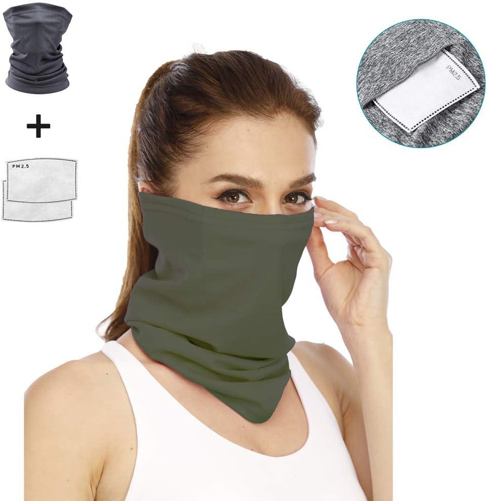 Halstuch UV-Schutz Schal Sonnenschutz atmungsaktiv Staubschutz Yekeyi Sommer-Gesichtsschutz