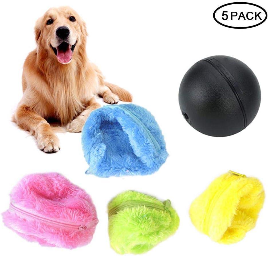 FOONEE Pelota mágica 4 Colores de Peluche para Jugar a Gatos y Perros, 2 en 1, Juguete eléctrico Divertido y Accesorios de Limpieza para el hogar: Amazon.es: Hogar
