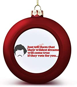 VinMea Christmas Ball Ornaments Inspired by Napoleon Dynamite - Wildest Dreams Hanging Ball Ornament Keepsake for Christmas Trees,Holiday Party