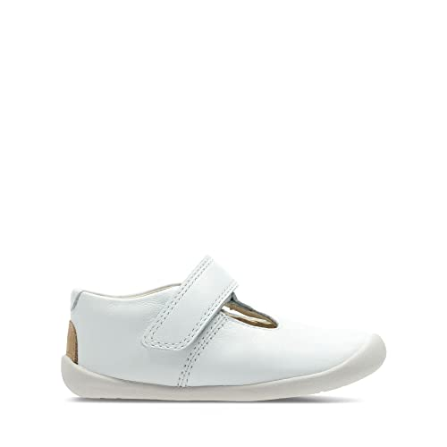 Clarks Roamer Go Toddler Leather Shoes in White Wide Fit Size 2 ... 060d98691