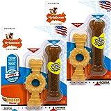 Nylabone Puppy Twin PK Ring & Bone Combo Chicken Flavor, Petite