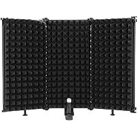 Wowlela Microfoon Isolatie Shield, Opvouwbare Multifunctionele Studio Mic Geluidsabsorberende Foam Reflector, Pop Filter…