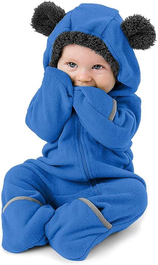 Clothes Baby Romper Animal Onesie Fleece Coat Bear Rabbit Sheep Winter Warm Coat