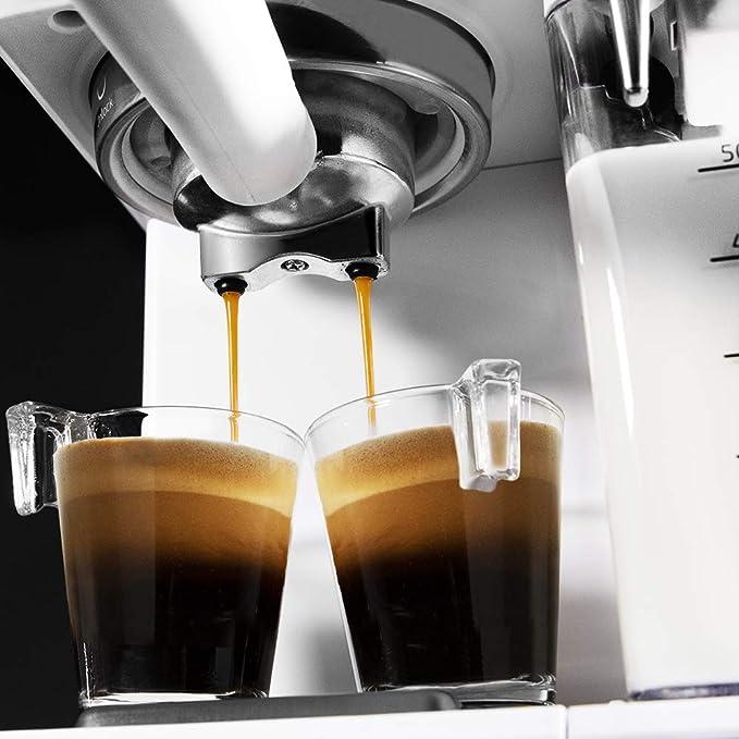 Cecotec Cafetera Semiautomatica Power Instant-ccino Touch Serie Bianca. Presión 20 Bares, Capacidad de 1,4l, 6 Funciones, Calentador por Thermoblock, ...