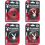 Playboy Condoms 12 Condones Extra Sensibles en 4 Paquetes de 3 Condones c/u