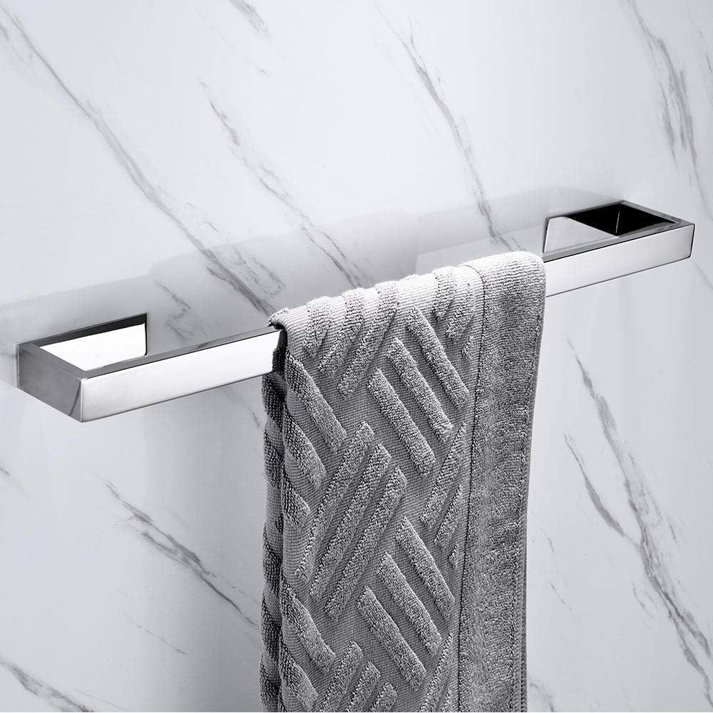 Celbon Handtuchhalter Ohne Bohren 40cm Badezimmer Handtuchhalter Edelstahl Selbstklebend Handtuchstange Badetuchhalter G/ästehandtuchhalter Schwarz