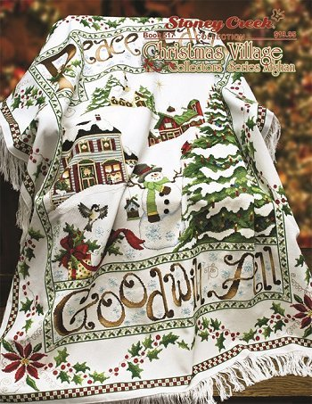 (Christmas Village Afghan (Book 517) Cross Stitch Chart and Free Embellishment)