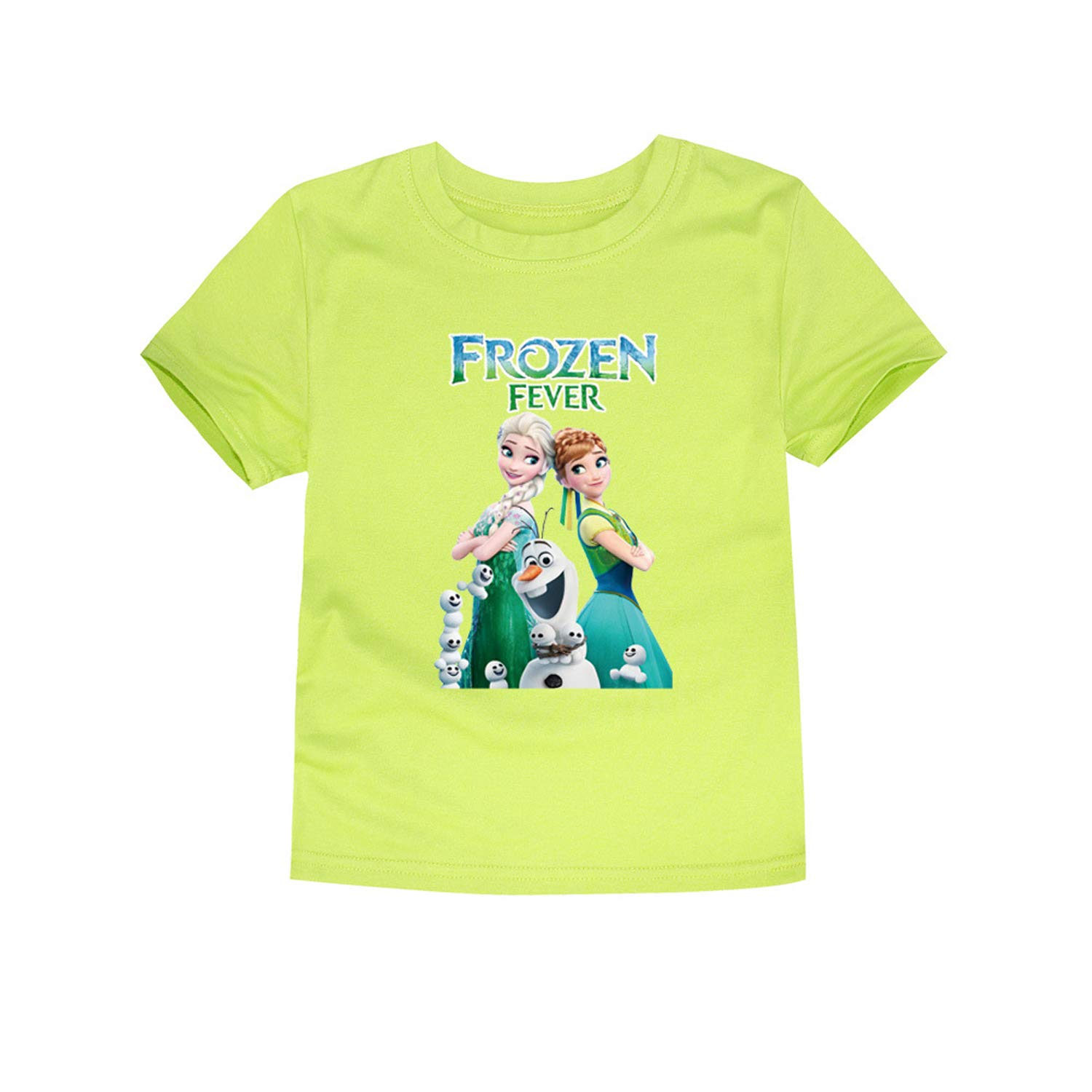 PCLOUD Frozen Childrens Solid Color Short Sleeve T-Shirt