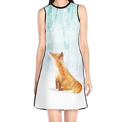 高品質 雪の狐 レディース ワンピース ドレス ノースリーブ 半袖 春夏 きれいめ 膝丈