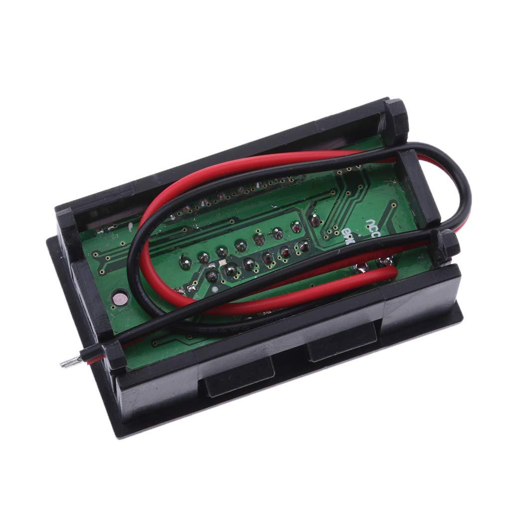 6V Negro 36V F Fityle Volt/ímetro Digital Medidor de Capacidad de Bater/ía Voltaje Detector Pantalla LCD