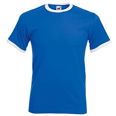 94867319f71ac Fruit of the Loom Tee Ringer - 9 couleurs - Tailles S à 2XL - Royal