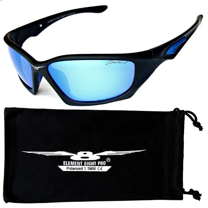 Elemento ocho gafas de sol polarizada Pro 1,1 mm TAC tecnología béisbol ciclismo Pesca