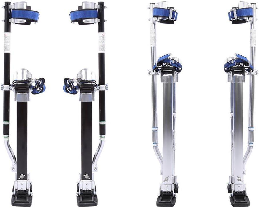 Plata Aleaci/ón de Aluminio Profesional Ajustable Pilotes de Drywall Zancos de Revestimiento Herramienta de Pintor Yosoo 24-40 Pulgadas 61-102cm