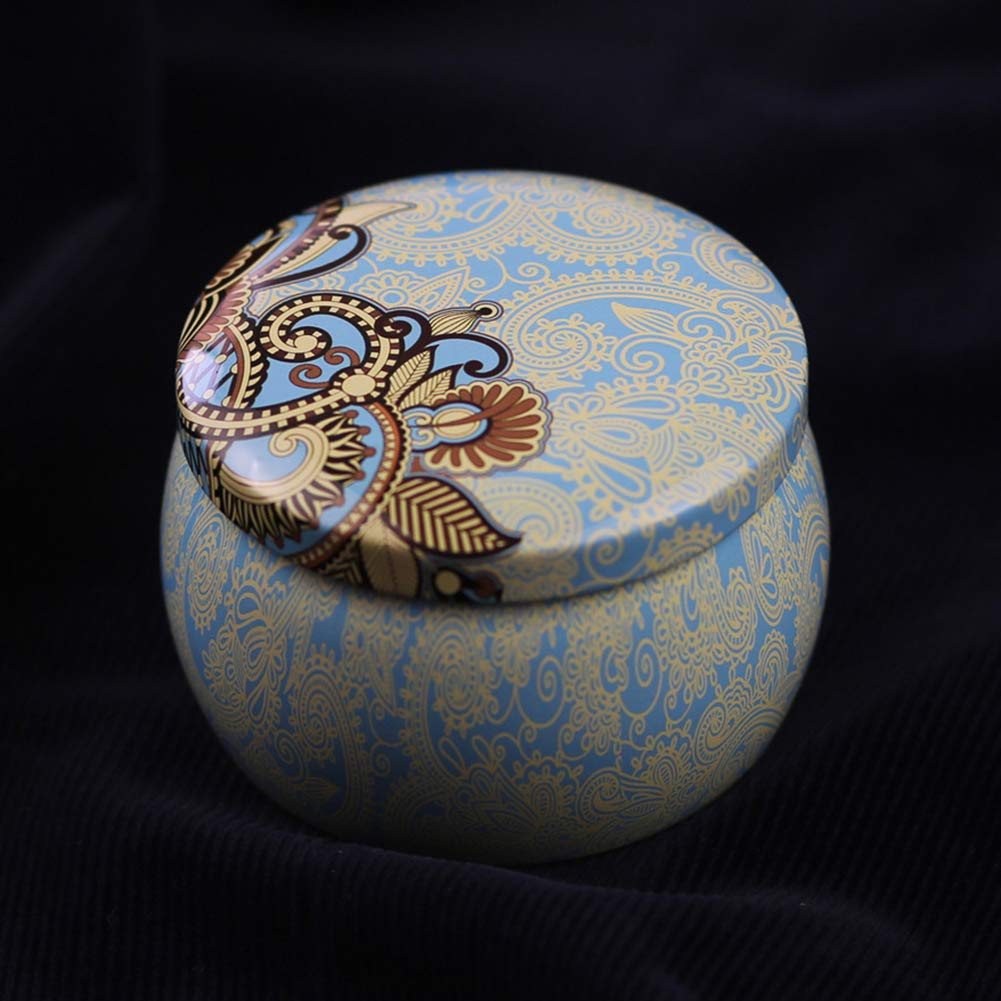 Aland Candy Case,Lovely Mini Tinplate Party Candy Cookies Gift Tea Storage Box Round Container 8# by Aland (Image #5)