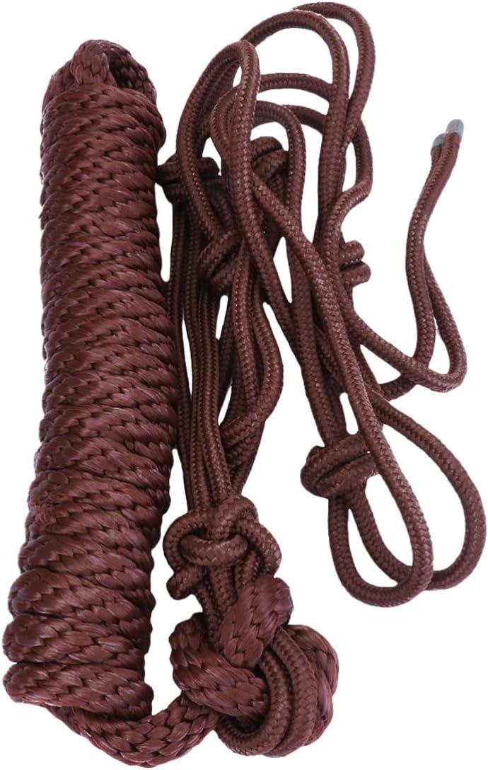 LIOOBO 1 Pc Suministros de Cabestro Ecuestre Práctica Cubierta de Cabeza Ajustable Cuerda Cuerda de Entrenamiento Brida de Cabeza de Caballo para Uso Diario Suministros de Arnés