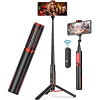 AUSELECT Selfie Stick Tripod, Lightweight Aluminum All in One Extendable Phone Tripod Selfie Stick Bluetooth with Remote…
