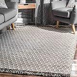 nuLOOM BeeHive Tassel Wool Area Rug, 6' x 9', Grey